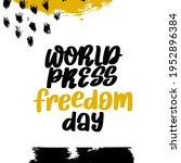 world press freedom day vector... | Shutterstock .eps vector #1952896384