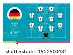 germany line up football 2020... | Shutterstock .eps vector #1952900431