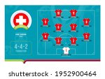 switzerland line up football...   Shutterstock .eps vector #1952900464