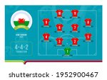 wales line up football 2020... | Shutterstock .eps vector #1952900467