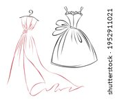 fashion boutique dress with... | Shutterstock .eps vector #1952911021