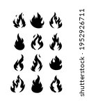 fire flame logo and icons set... | Shutterstock .eps vector #1952926711