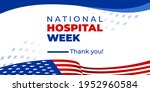 national hospital week. vector... | Shutterstock .eps vector #1952960584