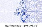 Elegant Blue Swirly Background...