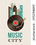 music and city landscape...