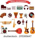 musical instruments  vector...   Shutterstock .eps vector #195300647