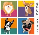 cartoon caricatures of 4 dog...   Shutterstock .eps vector #1953022981