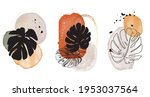 neutral watercolor shapes ... | Shutterstock .eps vector #1953037564