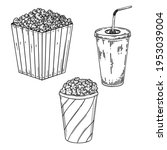 illustration of popcorn and... | Shutterstock .eps vector #1953039004