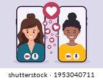 lesbian couple spending...   Shutterstock .eps vector #1953040711