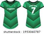 women sports jersey t shirt...   Shutterstock .eps vector #1953060787