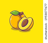 vector fresh apricot fruit icon.... | Shutterstock .eps vector #1953077677
