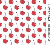 cherry. seamless pattern for... | Shutterstock .eps vector #1953081247
