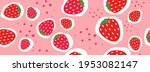 strawberry seamless pattern... | Shutterstock .eps vector #1953082147