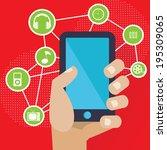 communication concept vector | Shutterstock .eps vector #195309065