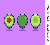 vector fresh avocado fruit icon.... | Shutterstock .eps vector #1953102571