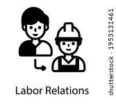 an icon of labor relations in... | Shutterstock .eps vector #1953131461
