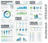 big set of awesome infographic... | Shutterstock .eps vector #195316319