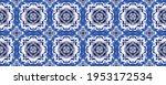 blue portuguese mosaic tile.... | Shutterstock . vector #1953172534
