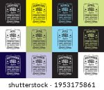 design 1981 aged to perfection... | Shutterstock .eps vector #1953175861
