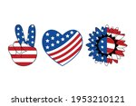 patriotic heart  peace  love ...   Shutterstock .eps vector #1953210121