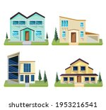 house collection. modern...   Shutterstock .eps vector #1953216541