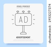 advertisement thin line icon.... | Shutterstock .eps vector #1953227374
