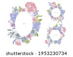 floral frames with pastel... | Shutterstock .eps vector #1953230734