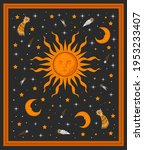 sun moon and stars magical... | Shutterstock .eps vector #1953233407