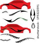 vehicle graphics  stripe  ... | Shutterstock .eps vector #195323591