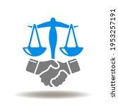 handshake with scales vector...   Shutterstock .eps vector #1953257191