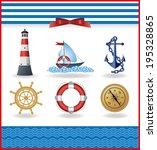 marine background   Shutterstock .eps vector #195328865