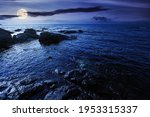 Sea Coast Scenery At Night....