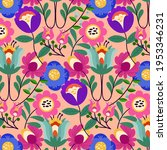 Abstract Floral Pattern. Garden ...