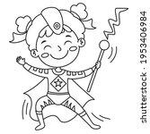 line art drawing for kids... | Shutterstock .eps vector #1953406984