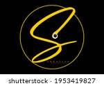 signature circle in the form of ...   Shutterstock .eps vector #1953419827