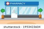 modern pharmacy or drugstore... | Shutterstock .eps vector #1953423604