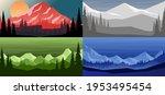 set of cartoon mountain... | Shutterstock .eps vector #1953495454