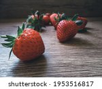 Fresh juicy strawberries with...
