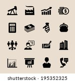 vector color business icons set ...