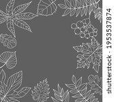 gray banner with white leaves... | Shutterstock .eps vector #1953537874