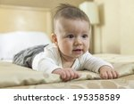 close up of a baby boy playing... | Shutterstock . vector #195358589