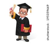 illustration of happy graduate... | Shutterstock . vector #195359669