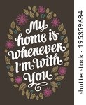 my home romantic vintage... | Shutterstock . vector #195359684