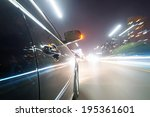 car on the road with motion... | Shutterstock . vector #195361601