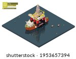 vector isometric semi...   Shutterstock .eps vector #1953657394
