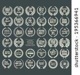 premium quality laurel wreath ... | Shutterstock .eps vector #195366941
