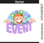 events colorful letters banner  ...