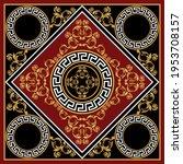 golden floral baroque element... | Shutterstock .eps vector #1953708157