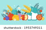 jewish holiday shavuot banner... | Shutterstock .eps vector #1953749311